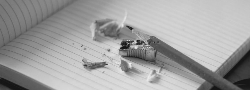 pencil and sharpener