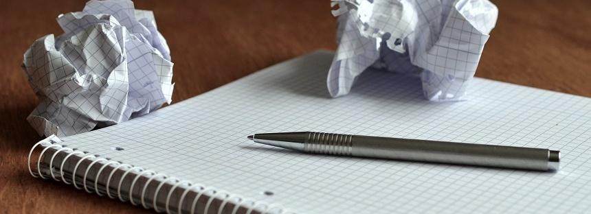 crumped paper