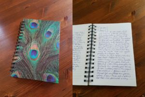 collage of journal and pages